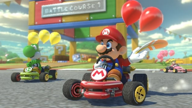 Mario Kart 8 Deluxe, available on the Nintendo Switch, is an updated version of 2014's Mario Kart 8.