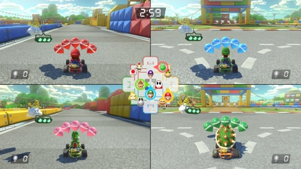 Mario Kart 8 Deluxe multiplayer split screen