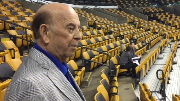 Bob Cole prepares for Game 4 of the first-round series between the Ottawa Senators and Boston Bruins in the 2017 Stanley Cup playoffs.