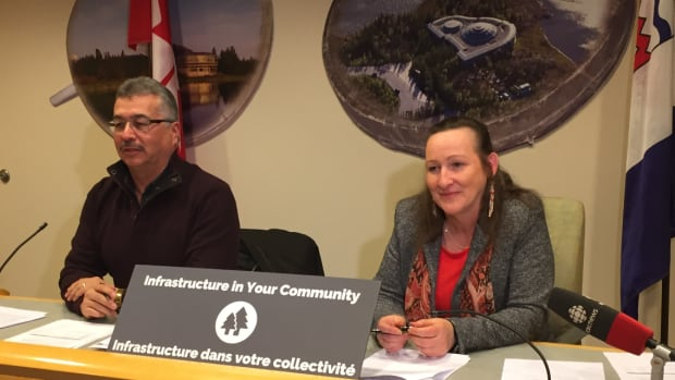 Federal MP Michael McLeod and territorial Minister of Municipal and Community Affairs Caroline Cochrane announced the infrastructure funding Wednesday afternoon in Yellowknife.