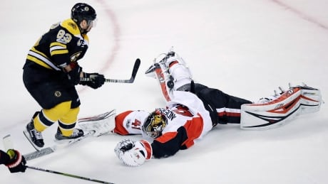 Craig Anderson save on Brad Marchand in Game 4