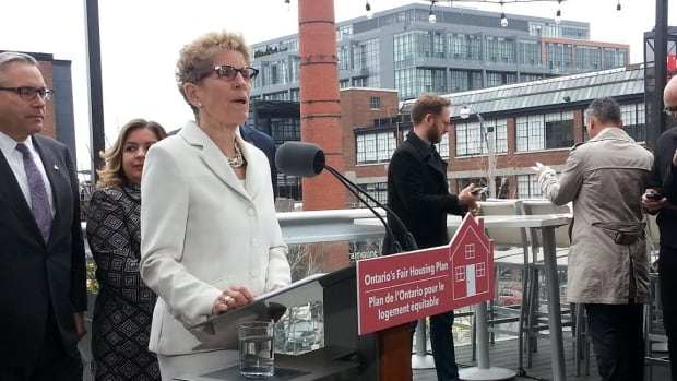 Ontario Premier Kathleen Wynne said the new measures are aimed at curbing increases in rents and housing prices that are rising 'faster than people's paycheques.'