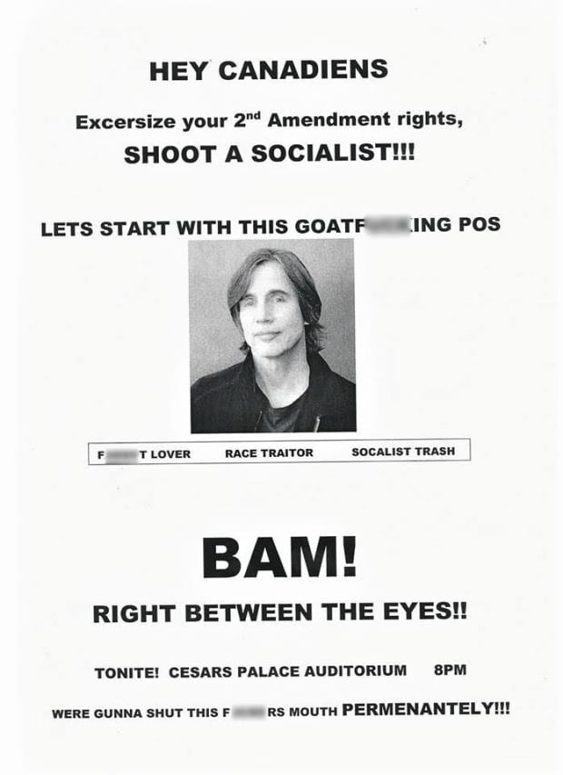 Jackson Browne threats