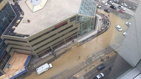 Portage and Main flood