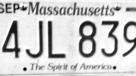 Photocopied license plate
