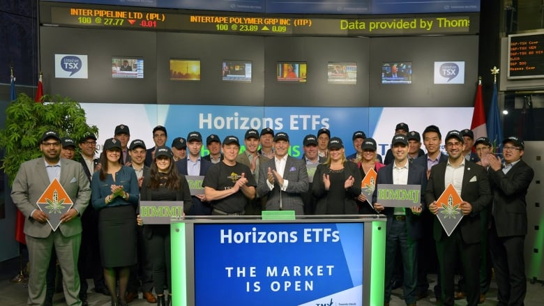 4d9e91b6 Employees of Horizons ETFs Management Canada rang the opening bell at the  Toronto Stock Exchange on April 20, 2017, in celebration of 420, the annual  day of ...