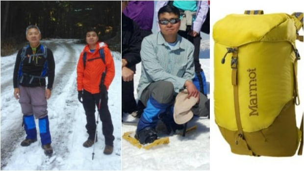 The families of Chun Sek Lam (left) and Roy Tin Hou Lee (right and centre) provided these photos showing what the men were likely wearing the day they went missing.
