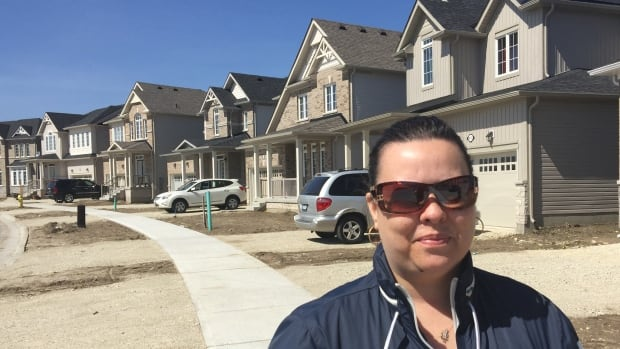 Berta Dias moved from Brampton to a new subdivision in Shelburne, Ont., a year ago. Her husband gets up at 4:30 in the morning to commute to the Toronto area for work.
