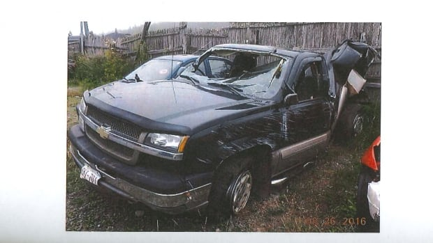 The pickup truck Kristell Unick was a passenger in last August was extensively damaged when it was rear-ended during a highway construction traffic stop.
