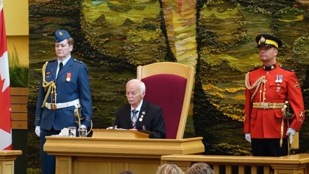 Yukon Commissioner Doug Phillips delivered the throne speech in the legislative assembly on Thursday afternoon.