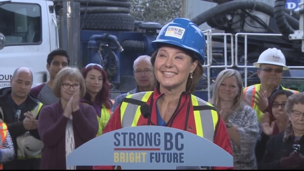Christy Clark optimistic as BC election approaches halfway mark