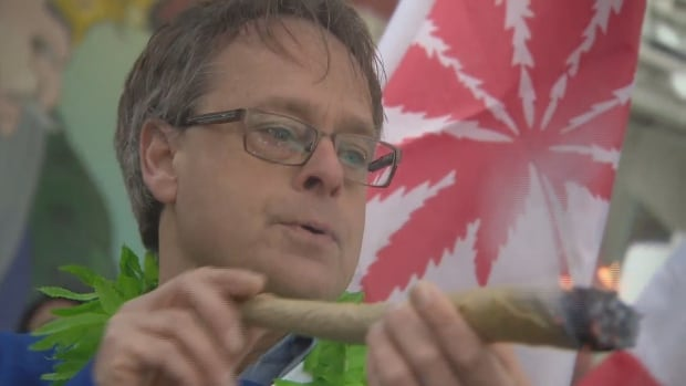 Marc Emery, the so-called 'Prince of Pot,' celebrated 4/20 at Yonge-Dundas Square in Toronto.