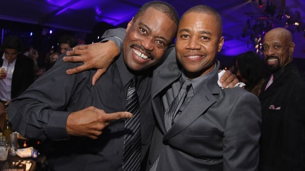 Cuba Gooding Sr. and his son are shown at an October 2007 event at the Apollo Theater in New York City.