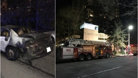 BURNABY CAR FIRE SPLIT IMAGE