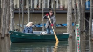 With sun shining, floodwaters begin to recede west of Montreal