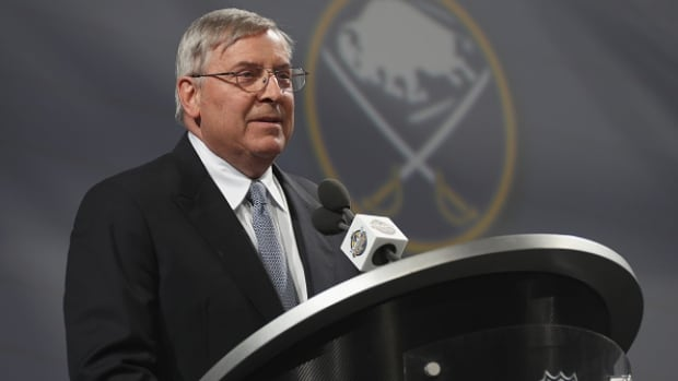 Buffalo Sabres owner Terry Pegula said Friday during a press conference that accountability for the team's lack of success starts with him.