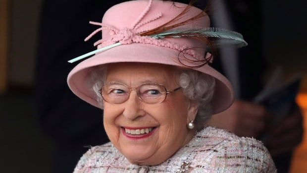 Queen Elizabeth smiles at an event at Newbury Racecourse in Newbury, England, as she celebrated her 91st birthday on Friday.