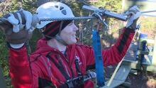 Ziplining with Ryan Snoddon
