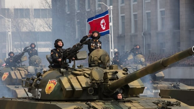 The North Korean military flaunted its weaponry during recent celebrations of the birthday of the country's founder, Kim Il-sung.