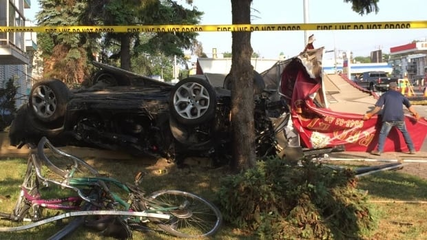 Two people died in July 2015 after this speeding BMW crashed into a building on Whyte Avenue.