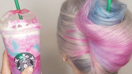 That image of unicorn frappuccino hair all over the internet? It's from Winnipeg