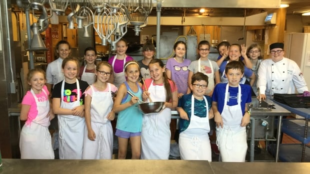 Students take part in a College 4 Kids culinary camp at the NBCC Moncton campus.