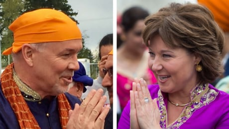 B.C. Liberal, NDP leaders canvass votes at Surrey Vaisakhi festivities