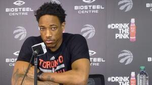 Raptors' DeRozan still motivated by embarrassing loss
