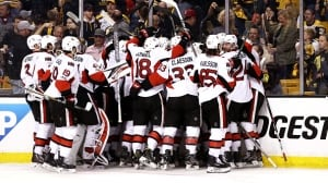 Senators advance with OT victory over Bruins