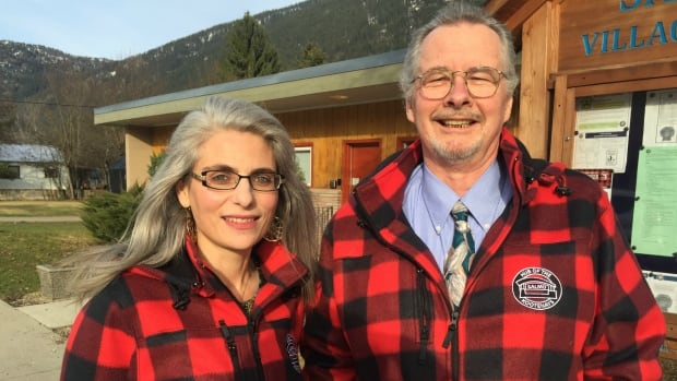 Salmo chief administrative officer Diane Kalen-Sukra and Salmo Mayor Stephen White