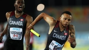 Canada wins 4x200m gold at World Track Relays