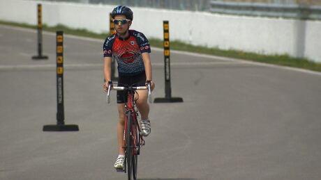 Cyclist Circuit Gilles Villeneuve