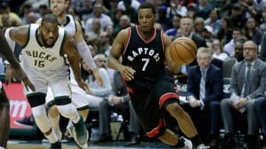 Kyle Lowry sent home after experiencing back stiffness