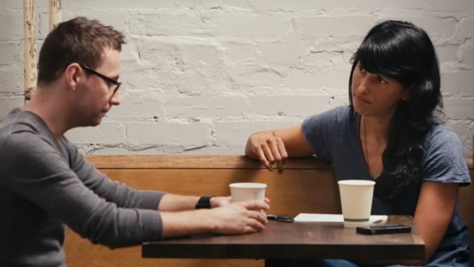 Filmmaker Attiya Khan sits down with her ex-partner who physically abused her in a new documentary, 'A Better Man.'