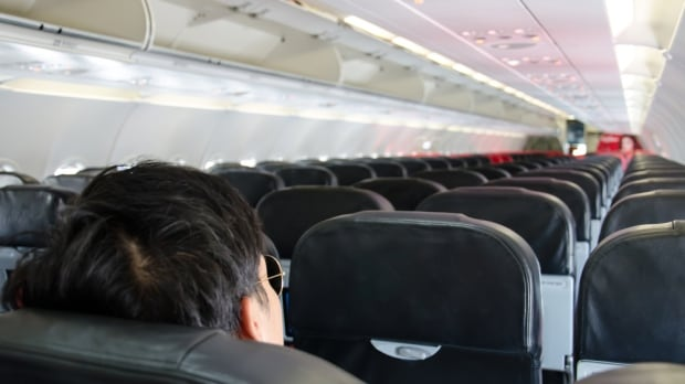 mostly empty plane