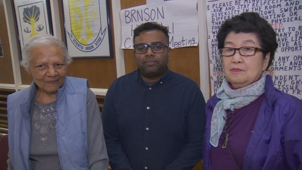 Members of the Bathurst-Finch Social Action Group, a community group, opposed the closure of the Urgent Care Centre, part of the Branson Ambulatory Care Centre, which is run by North York General Hospital. Left to right, Joyce Street-Lee, Priyan Dasilva and Moonja Park.