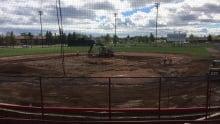 Port Arthur stadium field work