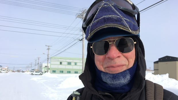 'Years ago I stopped being scared of what's out there,' says Peter Vacco in Cambridge Bay, Nunavut. He's walking by himself from Cambridge Bay to Gjoa Haven — a 300 kilometre trek.