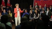 Premier Kathleen Wynne basic income