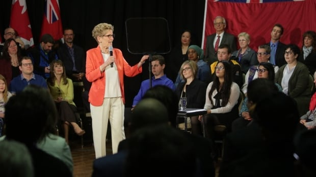 Premier Kathleen Wynne announced the province's plan for a basic income experiment in Hamilton on Monday.