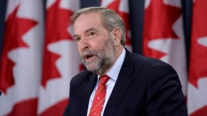 Tom Mulcair raises red flags after Canadian sniper breaks record in Iraq