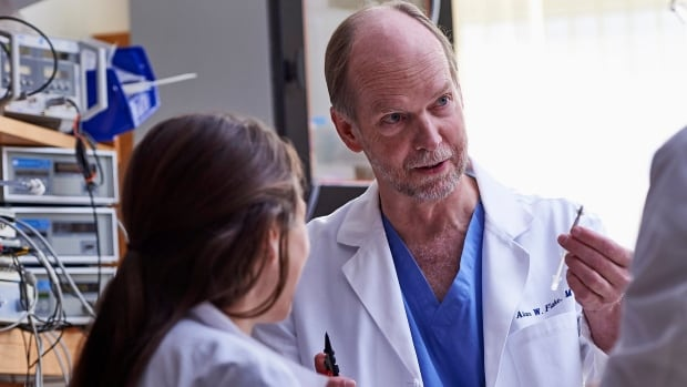 Dr. Alan Flake a fetal surgeon at Children's Hospital of Philadelphia, is leading the research to develop a fluid-filled incubation system that mimics a mother's womb to help extremely premature infants.