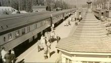 Banff train station historic pic