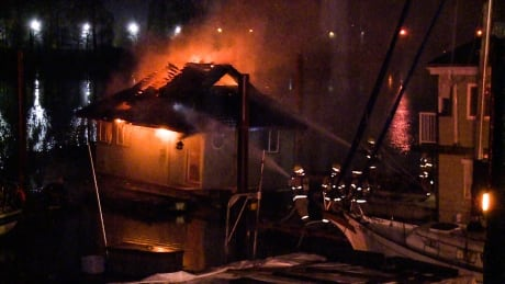 FLOATING HOUSE FIRE RICHMOND