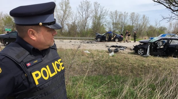 OPP investigating two-vehicle collision on Highway 402