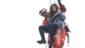 Woman rescued from crane tower in dramatic operation