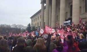Manitoba Nurses Union protests health-care cuts