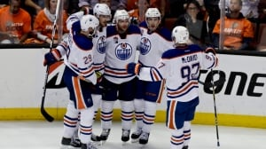 Oilers take early series lead after wild 3rd period in Anaheim