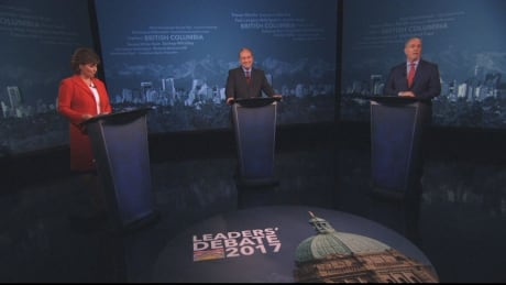 B.C. leaders get personal during election debate 2017
