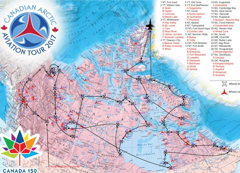 Map Of Canada 60th Parallel.Coming This Summer An Air Show Over Every Northern Canadian